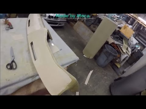 How To Upholster GMC Truck  Dashboard Part 3-7