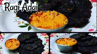 Ragi Adai Olden Golden Dish | Kavis Suvai|Recipe in Tamil