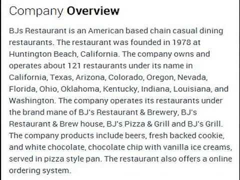 BJ's Restaurant Corporate Office Contact Information