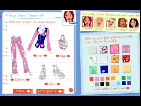 Good Old Barbie Games My Scene Fashion Designer Game Link To Play Youtube