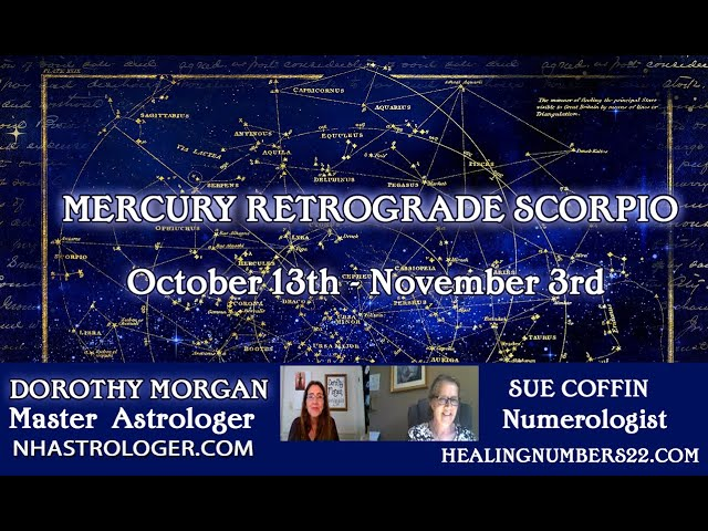 Mercury Retrograde Scorpio October 13th Astrology and Numerology