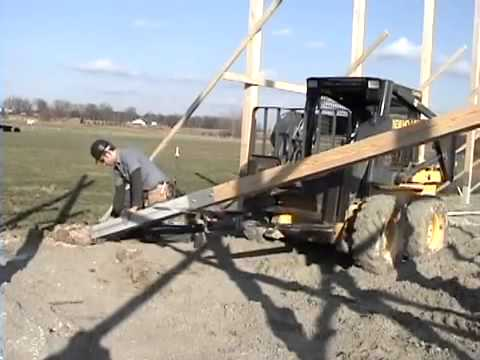How to install Perma Columns in a pole barn