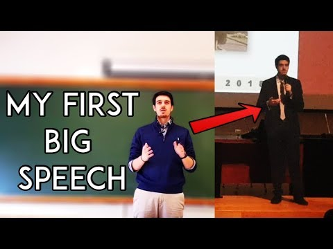 A Day in the Life of a Software Engineer - My first Big Speech