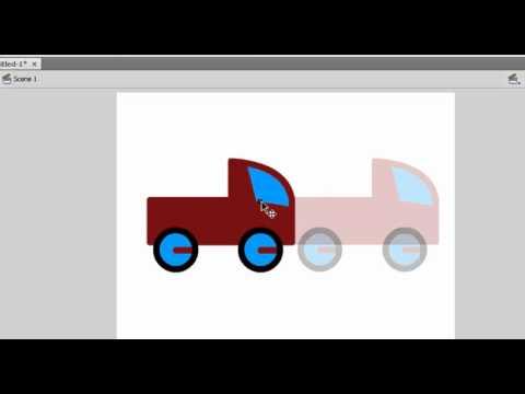 การ animate รถ ใน Flash