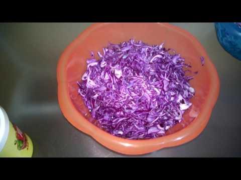 Салат из синей капусты - пошаговый рецепт с фото на