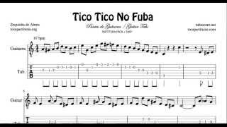 Tico Tico Tablatura Fácil y Partitura del Punteo de Guitarra Tabs Sheet Music for Guitar Tico No Fub