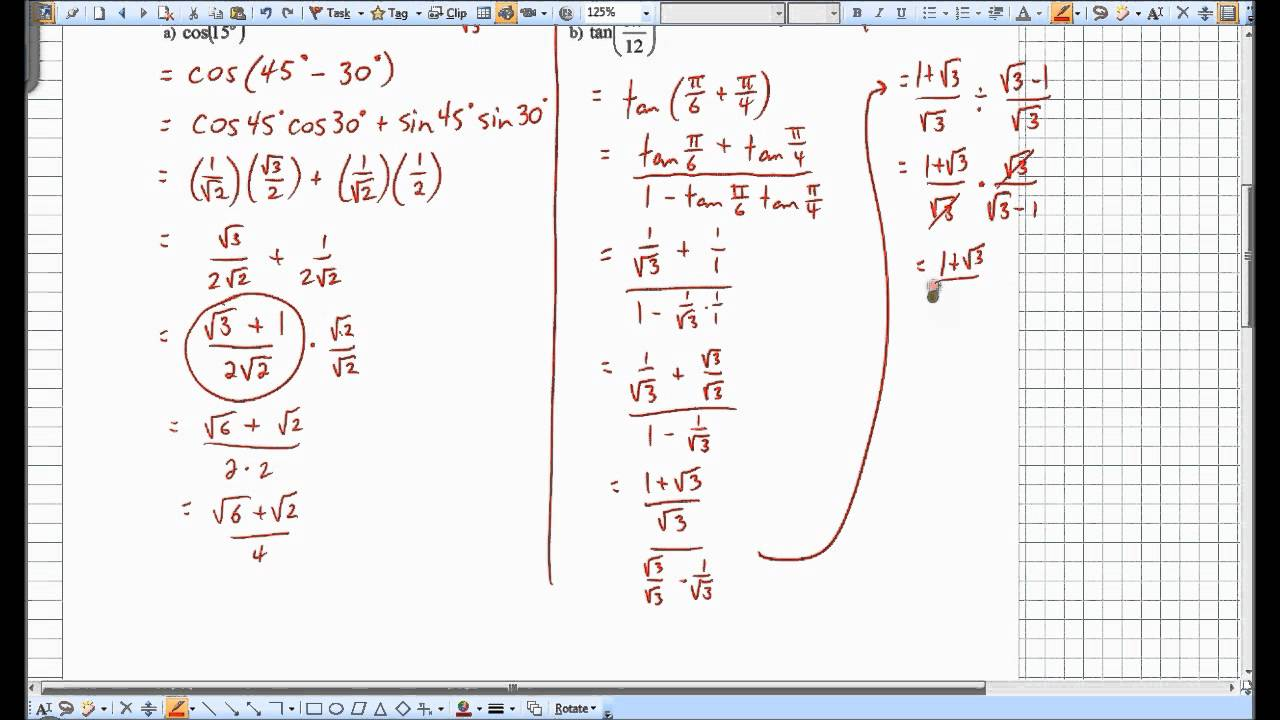 Compound angle formula part 1.