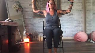 Yoga using a chair