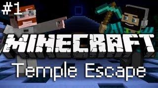 Minecraft: Сбежать из Храма! Часть 1 [МАСТЕРА ПАРКУРА](Наши герои попали в передрягу. Очнувшись в непонятном храме, они поняли что выбраться будет очень непросто!..., 2012-09-13T16:12:05.000Z)