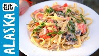 Sunset Salmon Fettuccine | Bart's Fish Tales
