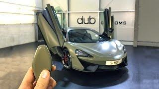 Wrapping My McLaren Satin Khaki Green