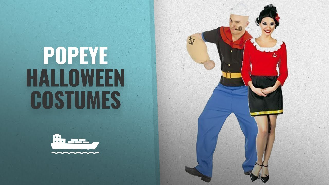 15bf1f1df8c Top 10 Popeye Halloween Costumes [2018 Best Sellers]: Couples Ladies and  Mens Strong Sailor & Wife