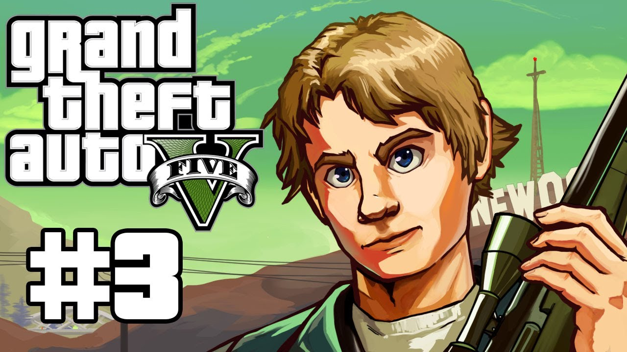 Grand Theft Auto 5 Gameplay / Playthrough w/ SSoHPKC Part 3 - Employee of the Month