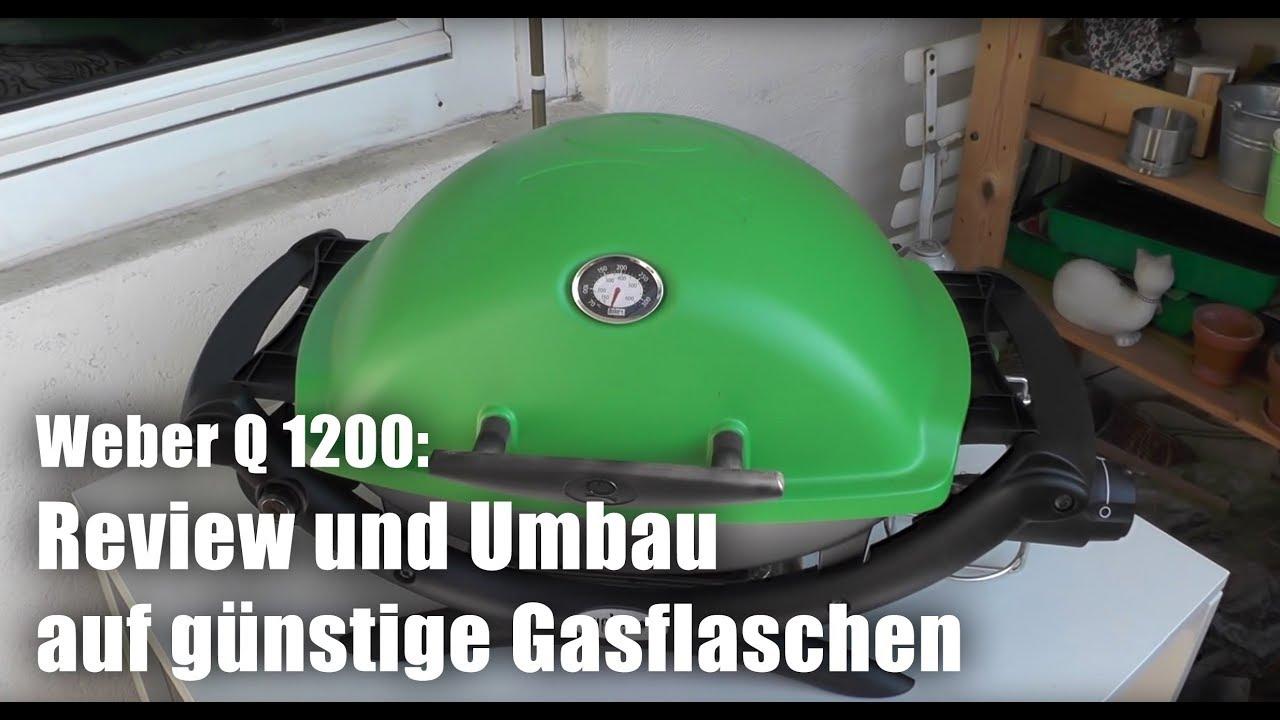 Landmann Gasgrill Kartusche Umrüsten : Weber q1200: ausführliches review und umbau auf große gasflaschen
