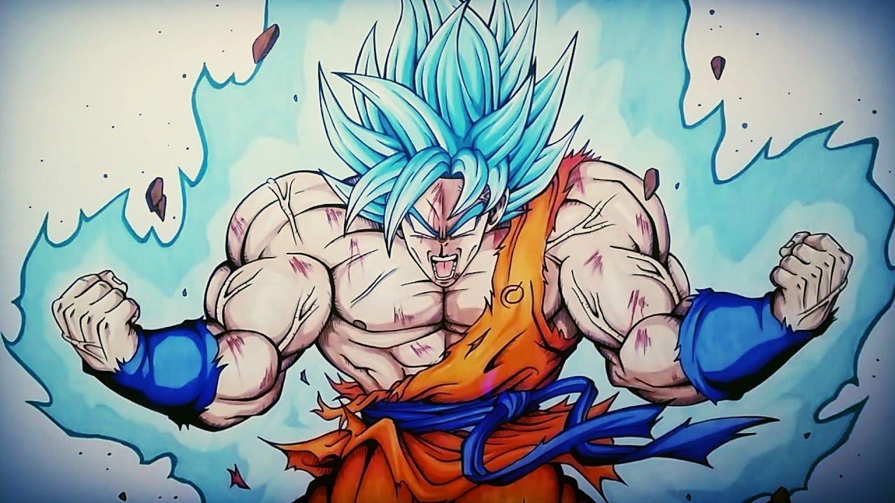 Drawing Goku Ascended Super Saiyan Blue Vs Yair Sasson Art Dibujame Un Muladraws