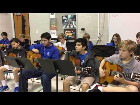POMS guitar Danza del raton all city audition