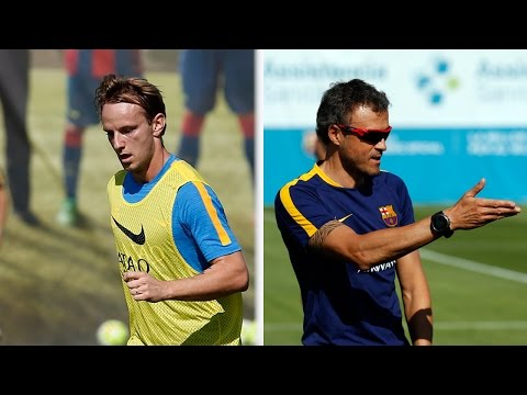 Press conference with Ivan Rakitic and Luis Enrique