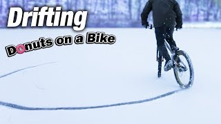 Can a Bike do Donuts? || Bicycle Drifting on Snow thumbnail