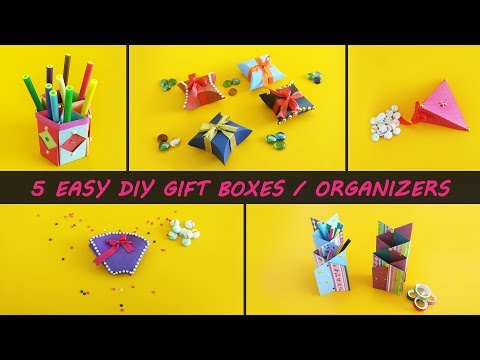 5 Best DIY Gift Boxes & Organizers | Awesome DIY Video | 1 Minute Crafts