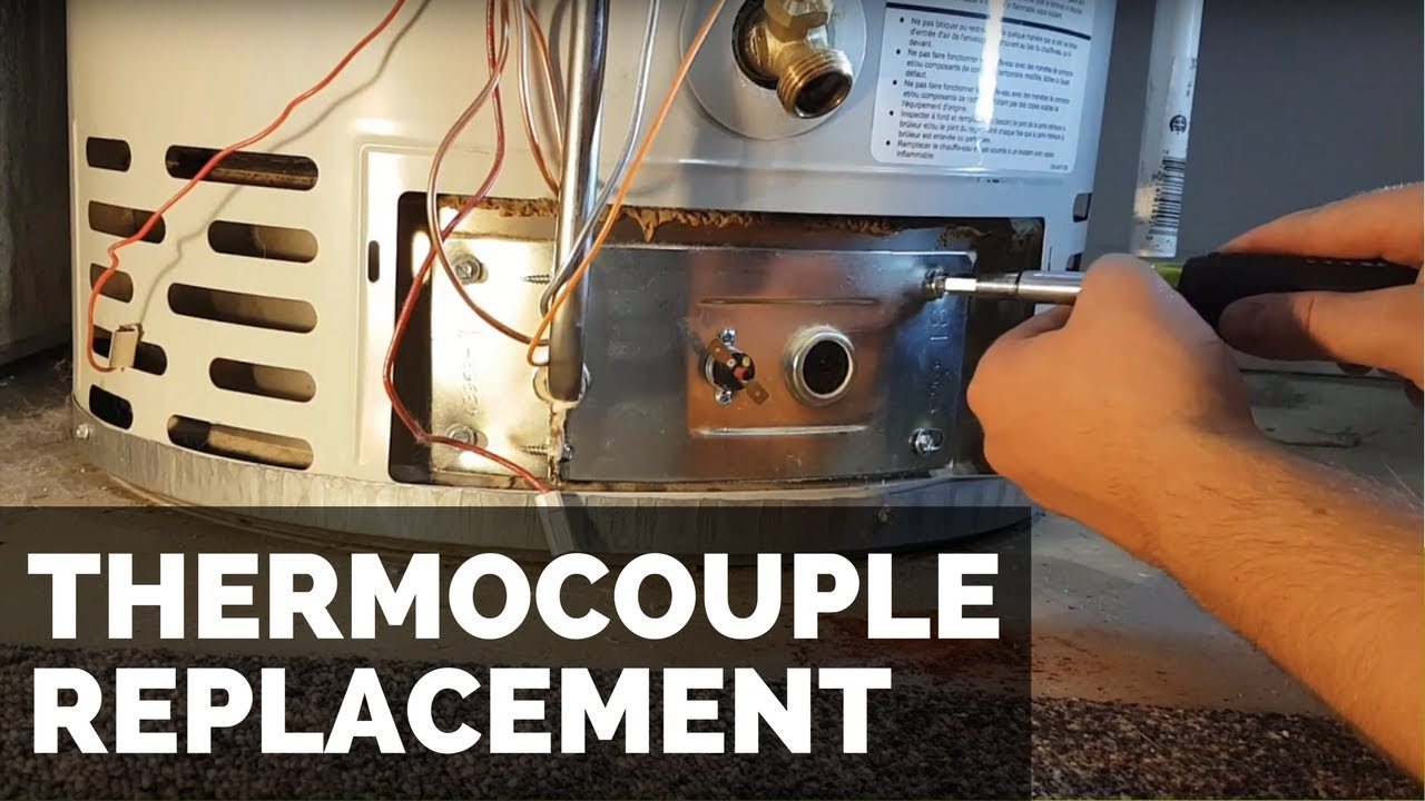 Thermocouple Replacement On A Water Heater Youtube