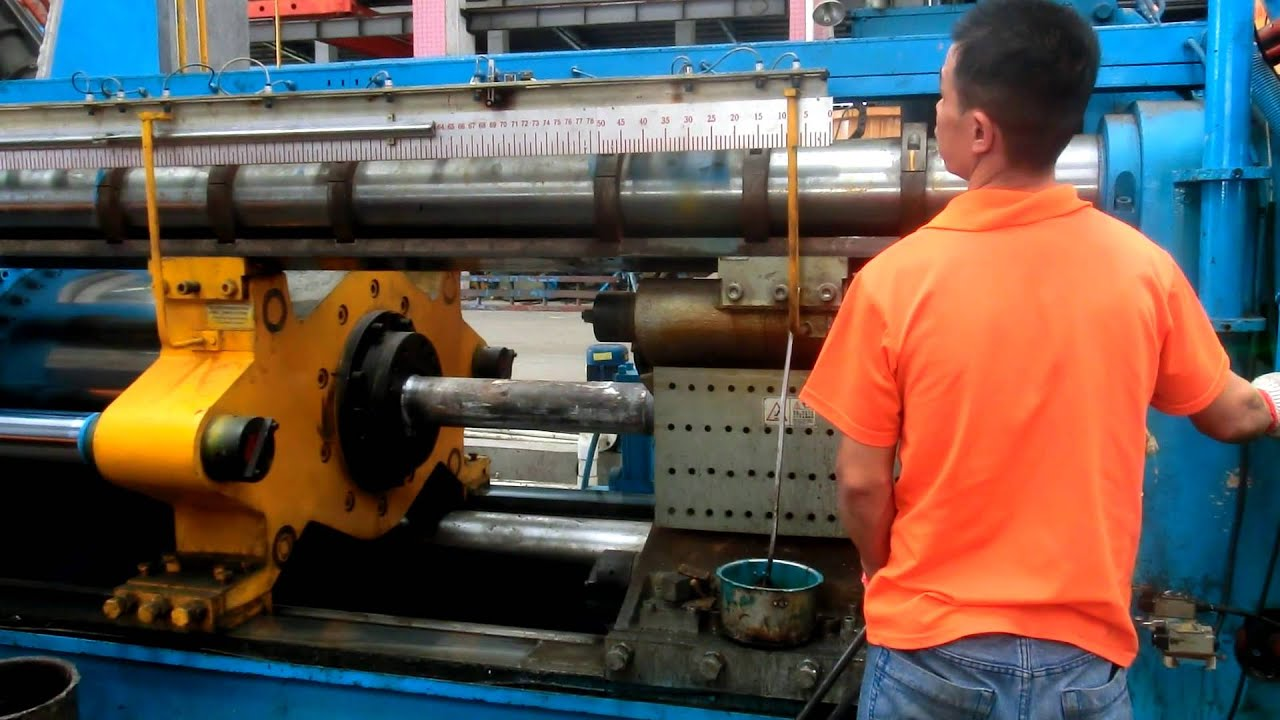 6 Aluminium Extrusion Press In Running Operation Youtube