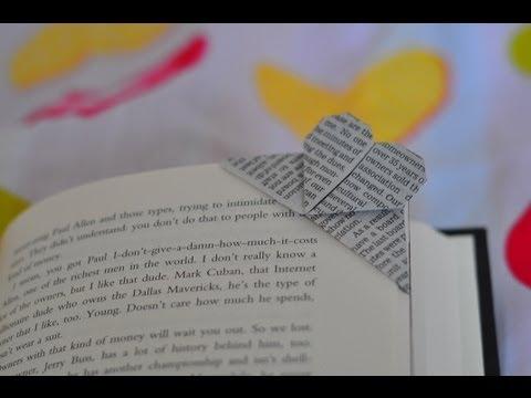 סימניית לב מאוריגמי