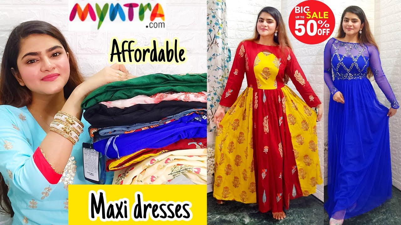 MYNTRA MAXI DRESS HAUL | MYNTRA SALE | MYNTRA HAUL | LONG DRESSES | MYNTRA DESIGNER DRESSES |RIA DAS
