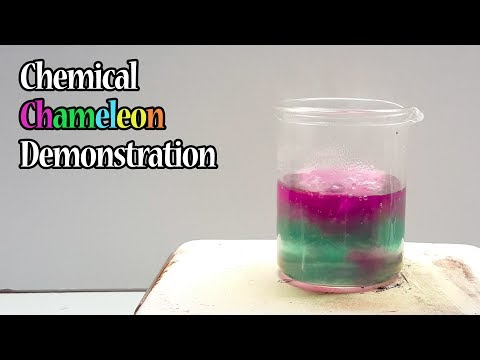 Chemical Chameleon Demonstration (with NaOH, KMnO4, And Sucrose)