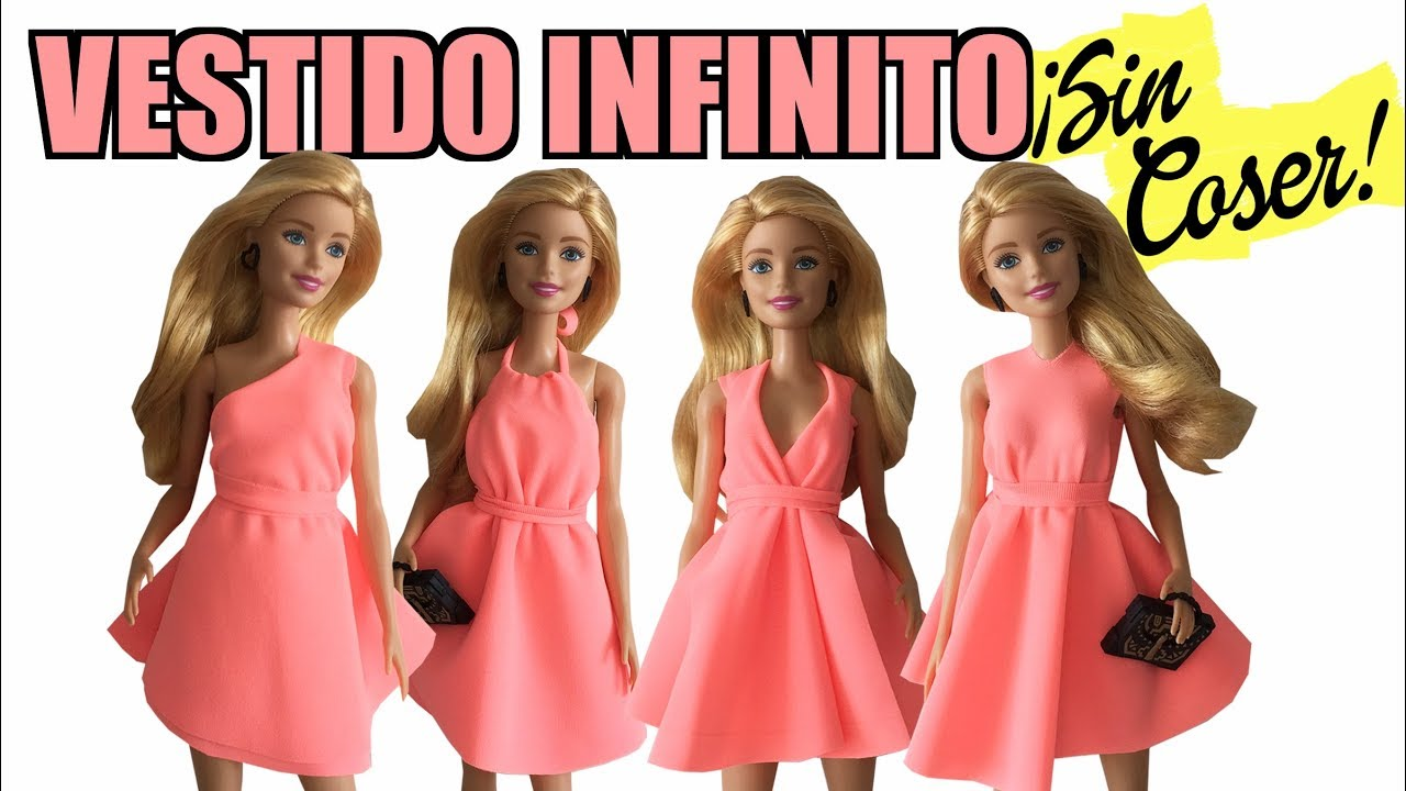 How To Make An Infinity Dress No Sew Barbie Clothes
