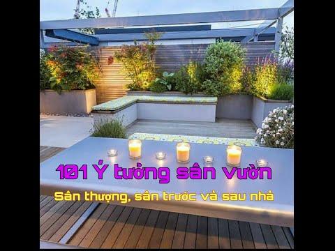 101 Mẫu thiết kế sân vườn trên sân thượng, sân vườn sau nhà, mẫu trang trí sân vườn đẹp hiện đại.