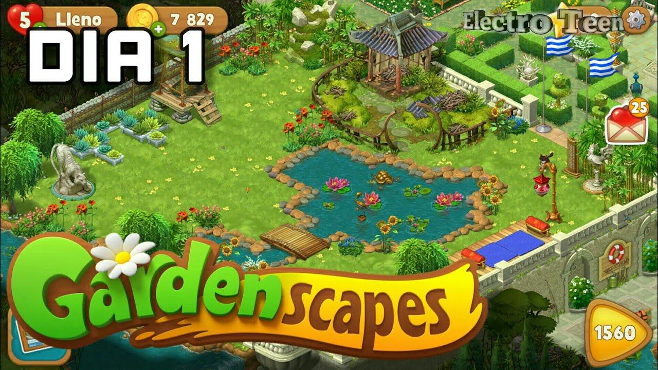 Awesome Gardenscapes: Area 8 Día 1