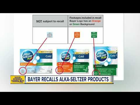 Alka-Seltzer Plus Products Recalled Due To Labeling Error