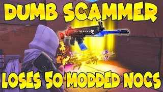 Dumb Scammer Loses 50 Modded Nocturno! (Scammer Gets Scammed) Fortnite Save The World