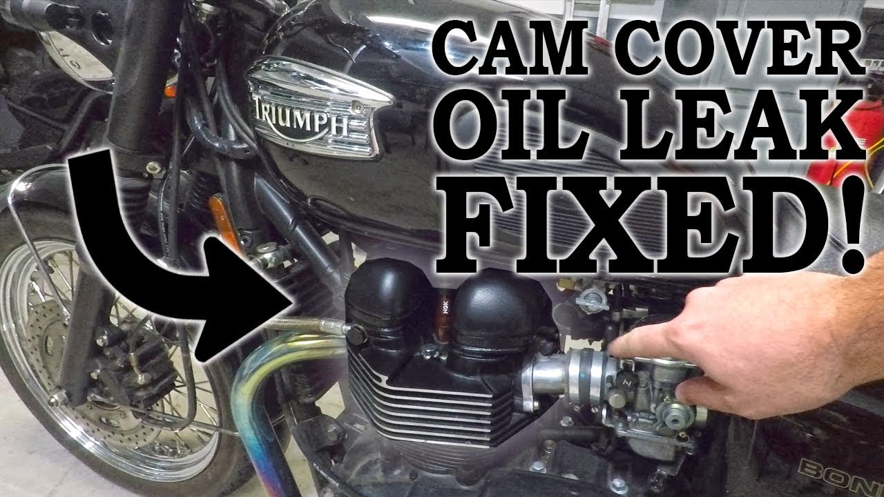 Oil Leak Repair >> Triumph Bonneville Cam Cover Oil Leak Repair - YouTube
