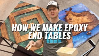 How We Make Epoxy End Tables