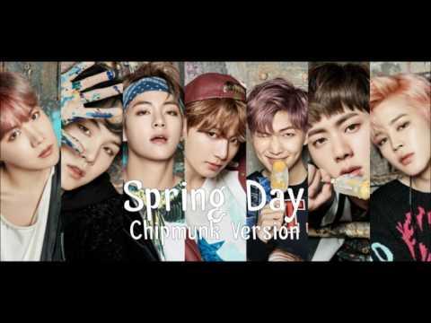 BTS - Spring Day [Chipmunk Version]