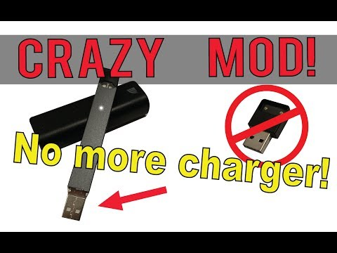 CRAZY Juul® mod, never use a charger again!