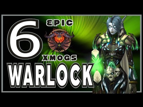 World of Warcraft BFA - 6 Unique Warlock Transmog Sets
