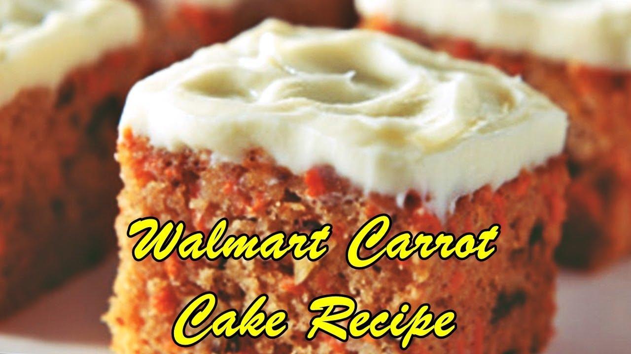 Walmart Carrot Cake Recipe