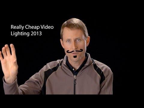 Really Cheap Video Lighting 2013