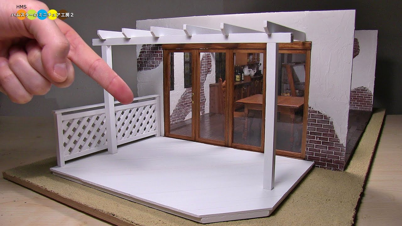 Diy Dollhouse Items Miniature Wood Deck ミニチュアウッドデッキ作り