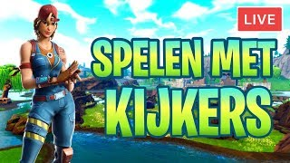 LIVE FORTNITE MET KIJKERS + GIVEAWAY NL/BE FORTNITE BATTLE ROYALE!!