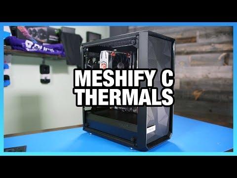 Fractal Meshify C Review: Thermals & Noise vs. Define C