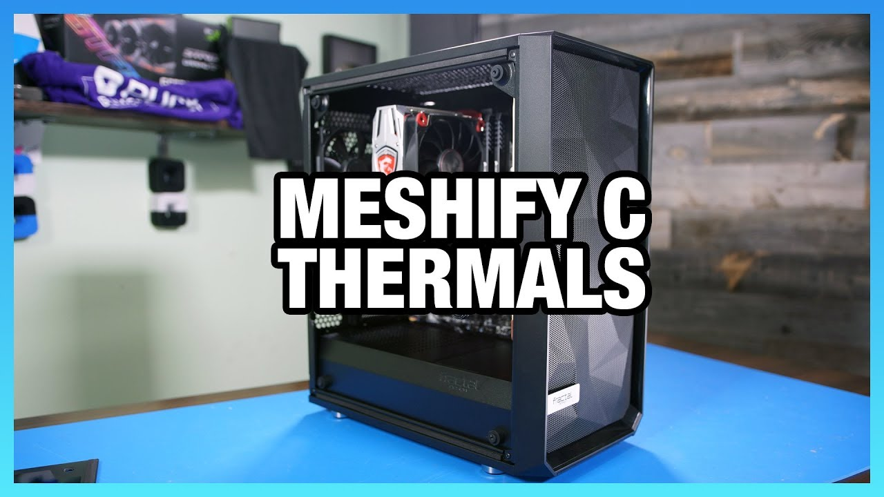 Fractal Meshify C Review: Thermals & Noise vs  Define C