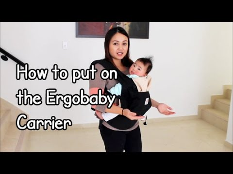 How to put on the ergobaby carrier!