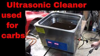 Ultrasonic Cleaner repairs carburetors