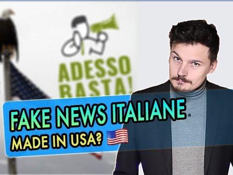 Novità: FAKE NEWS italiane, ma MADE IN USA?