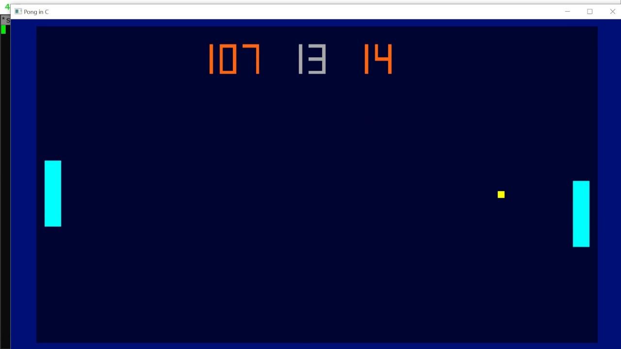 Pong in C - Source Code Walkthough