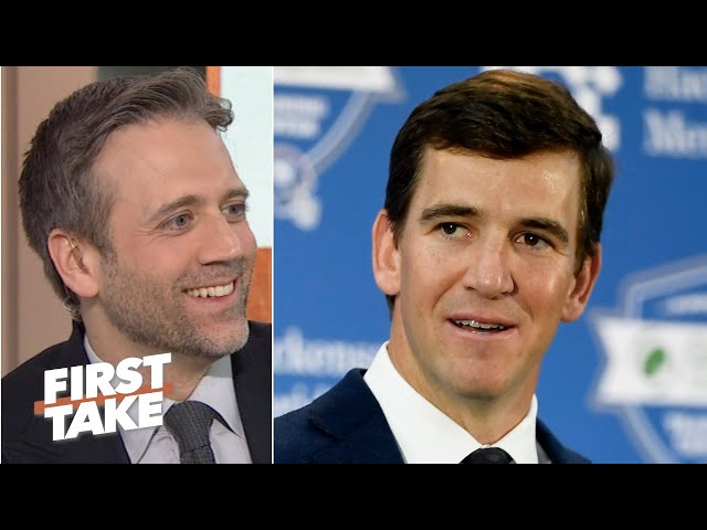 Stephen A. and Max react to Eli Manning's retirement speech | First Take