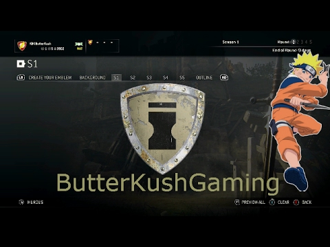 how to get diffrent emblem shapes in for honor